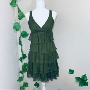 J Crew Zadie Chiffon Ruffle Tiered Silk Dress